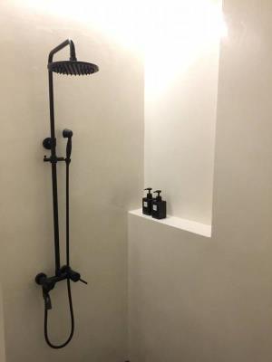 創意壁材(白色)浴室牆面施工
