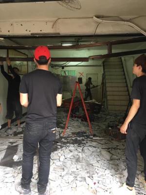 中壢透天木作拆除、牆面地面見底、鋁窗拆除、挖糞池