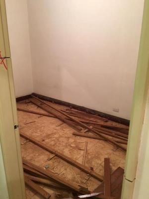 蘆洲公寓木作拆除、磁磚打除、地面見底