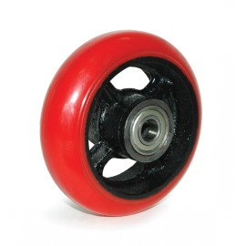 Crowned Polyurethane Mold-On Cast Iron Wheels