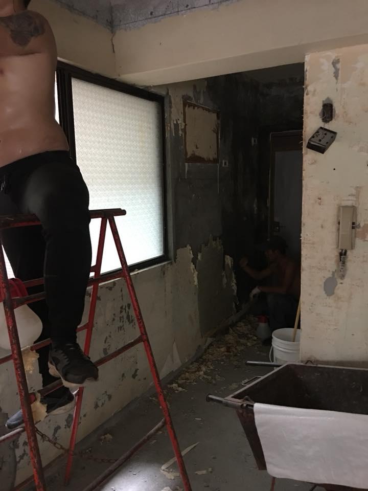 士林區全室木作拆除、地面見底、天花板拆除、牆面見底