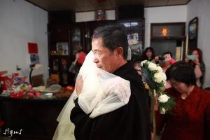 新娘與父親拜別