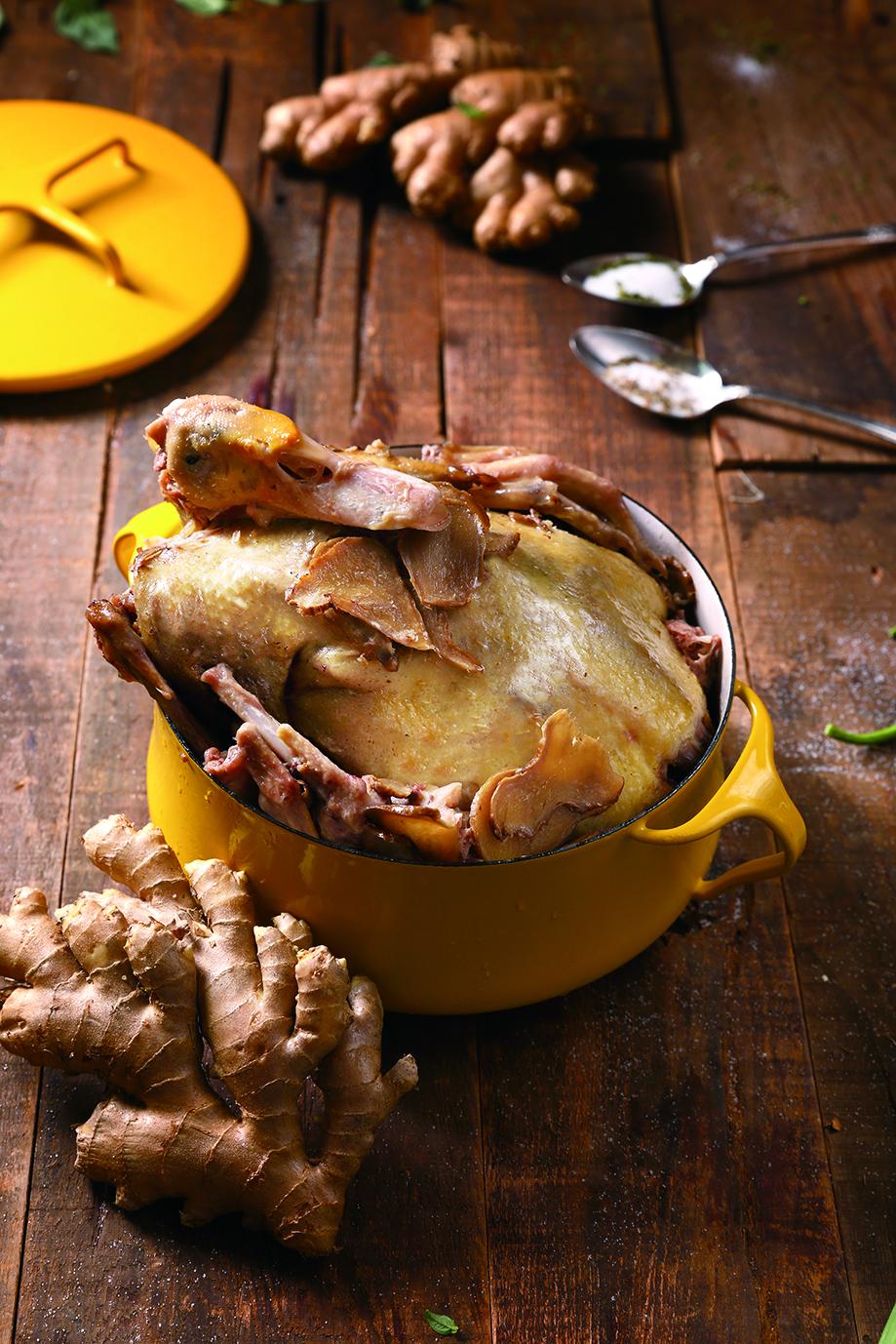 麻油薑片燜鴨