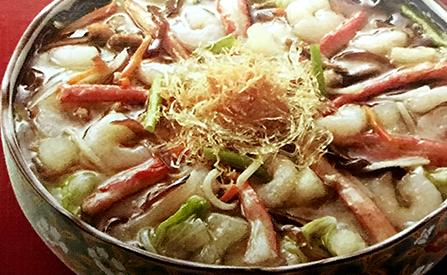 松葉蟹干貝海鮮羹