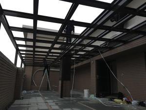 H型鋁鋼構採光罩