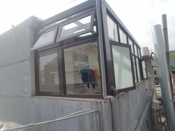 H型鋁鋼構採光罩(玻璃屋搭建)