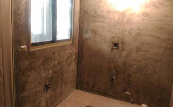 深灰色居家浴室
