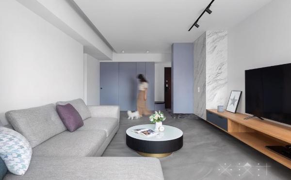 創藝地坪基本款,005灰霧面混色拉花(居家空間效果) 必設計工作室 Studio B