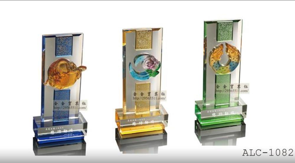 水晶獎盃-水晶琉璃獎盃訂製製作|金金禮品社-獎盃獎牌訂製服務