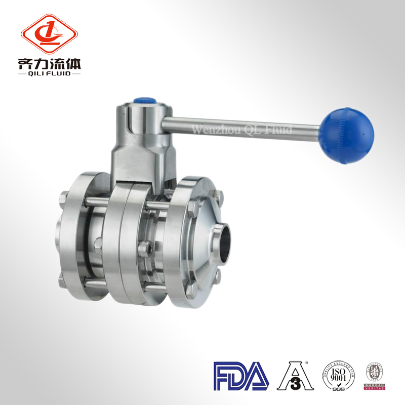 3 Pieces Butterfly Valve