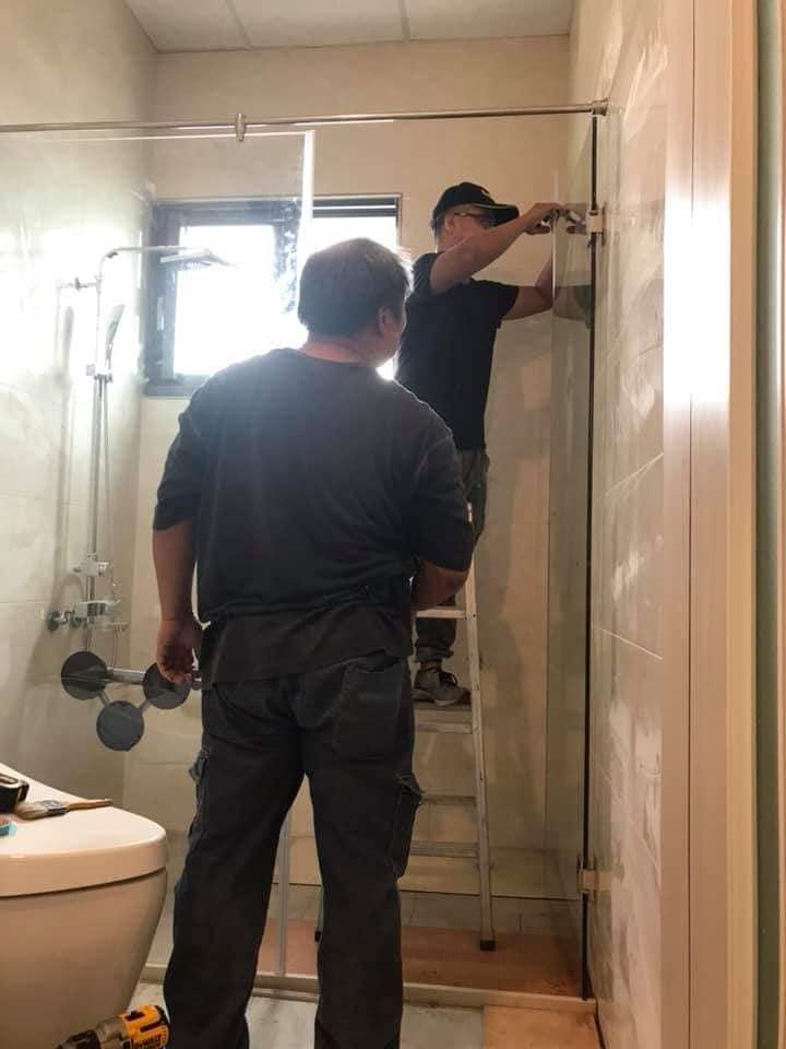 淋浴門施作