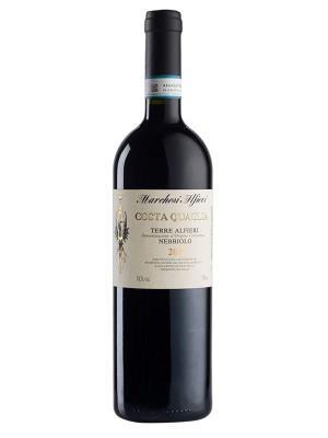 2014 義大利紅酒 Costa Quaglia TERRE ALFIERI NEBBIOLO (義大利知名葡萄酒雜誌   Bibenda意味美酒  4葡萄串)