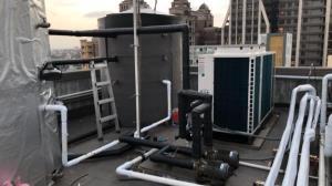 中壢奇異果共享旅店-20噸熱泵安裝