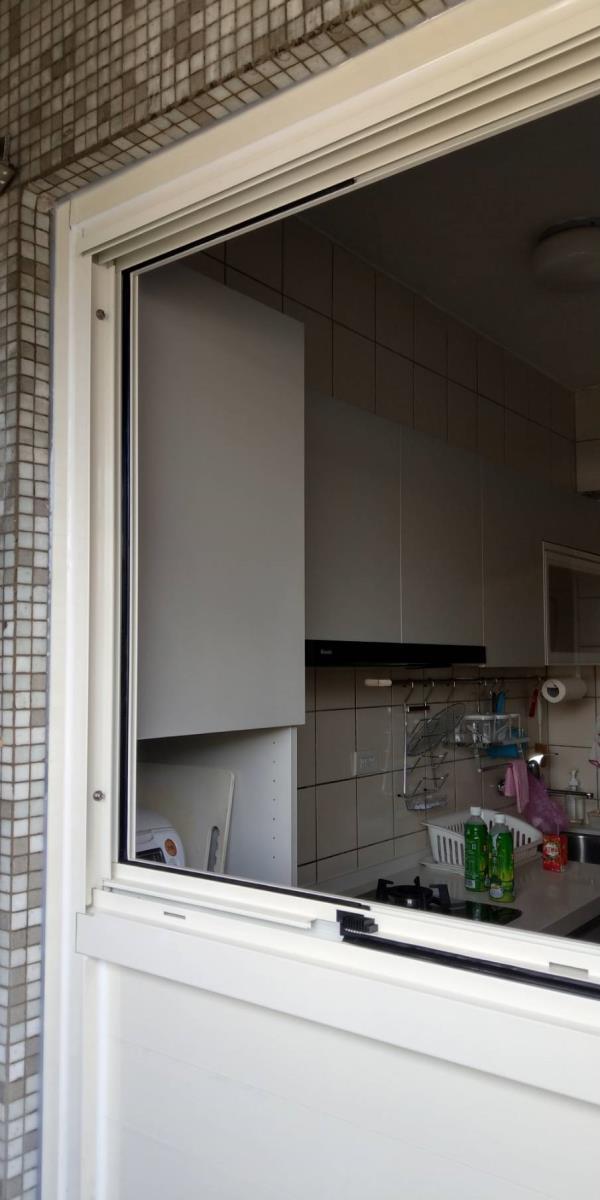 舊框保留 門片改窗戶