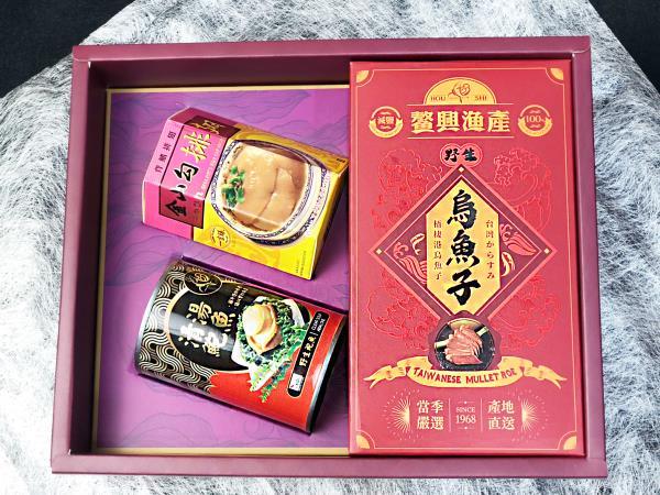 三入裝-清湯鮑魚(4顆)+排翅+烏魚子禮盒
