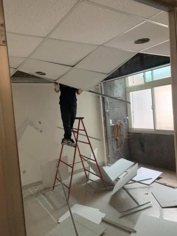 全室輕鋼架天花板拆除