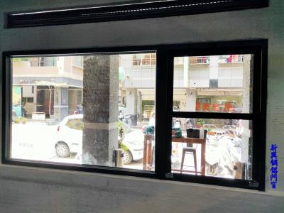 鐵灰砂色餐廳櫃台取餐區門面