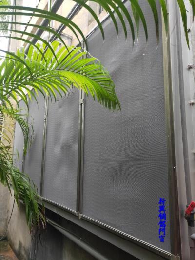 水濂降溫系統增設紗網