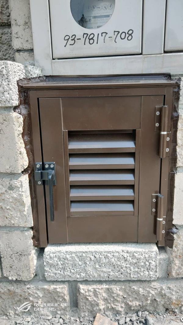 鋁製室外電箱門