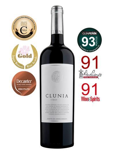 2014 西班牙紅葡萄酒 CLUNIA Syrah (西班牙權威性酒評雜誌  Guia Penin 93分)