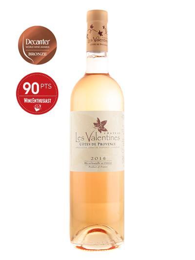"""2016 法國粉紅酒 Chateau Les Valentines Rose(知名葡萄酒評鑑雜誌 """"葡萄酒愛好者"""" Wine Enthusiast   90分)"""