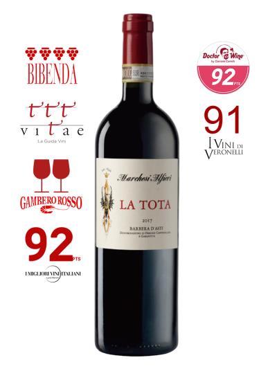 2017 義大利紅酒 BARBERA D'ASTI D.O.C.G LA TOTA (義大利餐飲權威評鑑指南  Gambero Rosso   2酒杯)