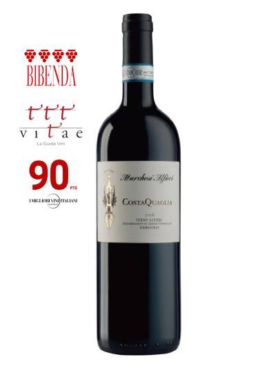 2016 義大利紅酒 TERRE ALFIERI NEBBIOLO D.O.C. COSTA QUAGLIA (義大利知名酒評期刊 Bibenda《意味美酒》4葡萄串)
