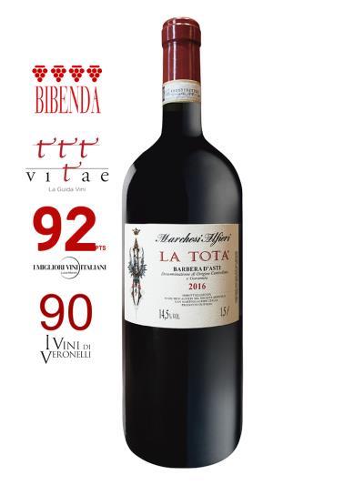2016 義大利紅酒 BARBERA D'ASTI D.O.C.G. LA TOTA 1.5L (義大利知名酒評期刊 Bibenda《意味美酒》 4葡萄串)