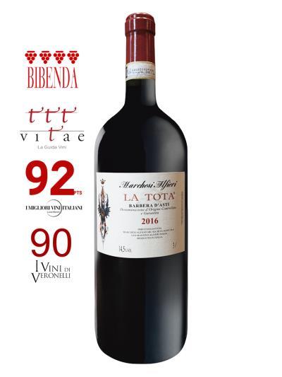 2016 義大利紅酒 BARBERA D'ASTI D.O.C.G. LA TOTA 3L (義大利知名酒評期刊 Bibenda《意味美酒》4葡萄串)