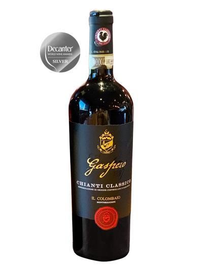 2016   義大利紅酒  Chianti Classico D.O.C.G. GASPERO 1897 (品醇客世界葡萄酒大賞  Decanter World Wine Awards - 銀牌)