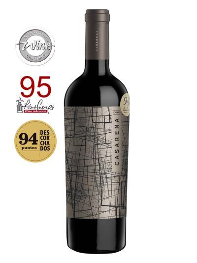 """2012   阿根廷紅酒   CASARENA - ICONO (知名葡萄酒評論雜誌""""葡萄酒觀察家""""Wines Advocate 95分 )"""