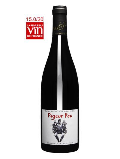 2015 法國有機紅酒   Pigeur Fou Saint Nicolas de Bourgueil (法國老牌葡萄酒雜誌   LaRevueduVindeFrance  15/20分)