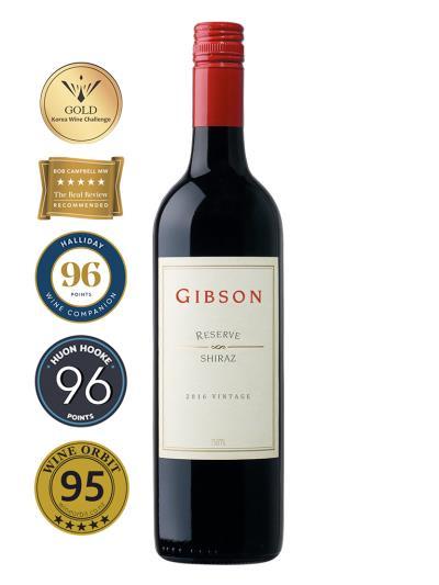 2016 澳洲紅酒 Gibson RESERVE SHIRAZ(澳洲知名酒評家James Halliday <澳洲酒指南>評鑑  Wine Companion  96分)