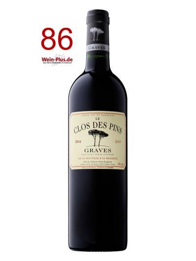 2018 法國紅酒   Le Clos des Pins Graves Rouge AOC (德國知名葡萄酒評鑑網站 Wein-Plus.de    86分)