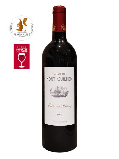 "2016 法國紅酒   Château Font-Guilhem Cotes de Bourg (法國""樺榭葡萄酒指南"" Le guide Hachette des vins  推薦酒款)"