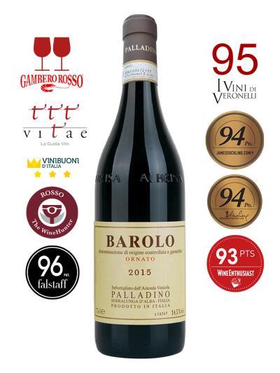 2015 義大利紅酒 BAROLO D.O.C.G. ORNATO  (義大利餐飲評鑑指南  Gambero Rosso 2紅酒杯)