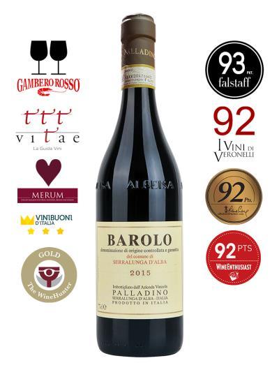 2015 義大利紅酒 BAROLO D.O.C.G. Del Comune di Serralunga d'Alba (義大利餐飲評鑑指南  Gambero Rosso  2黑酒杯)