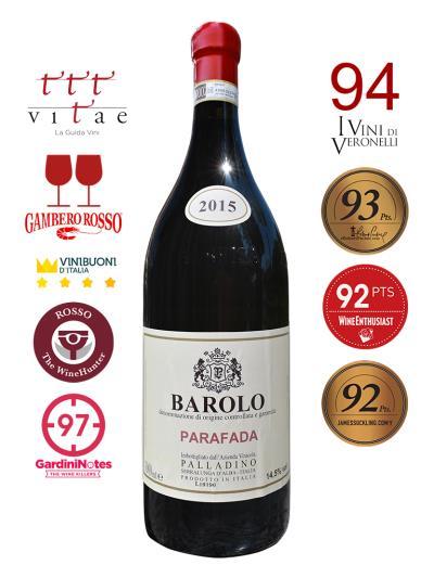 2015 義大利紅酒 BAROLO D.O.C.G. PARAFADA 3L (義大利餐飲評鑑指南  Gambero Rosso  2紅酒杯)