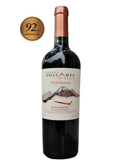 2019 智利紅酒 TECTONIA CARMÉNÈRE (知名葡萄酒評鑑家   James Suckling  92分)