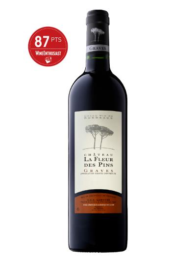 "2019 法國紅酒   Fleur des Pins Graves Rouge AOC (葡萄酒評論雜誌""葡萄酒愛好者""Wine Enthusiast 87分)"
