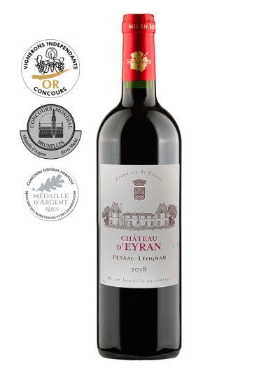 2018 法國紅酒   Château d'Eyran - Pessac Léognan Rouge (法國獨立酒莊博覽會  Concours des Vignerons Indépendants  金牌)