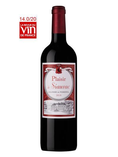 2018 法國紅酒   Plaisir de Siaurac (法國葡萄酒評論  La Revue du Vin de France   14/20)