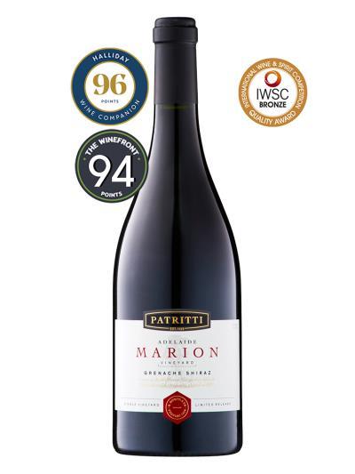 2015 澳洲紅酒 PATRITTI  Marion Vineyard Grenache Shiraz (澳洲葡萄酒評鑑家  James Halliday  96分)