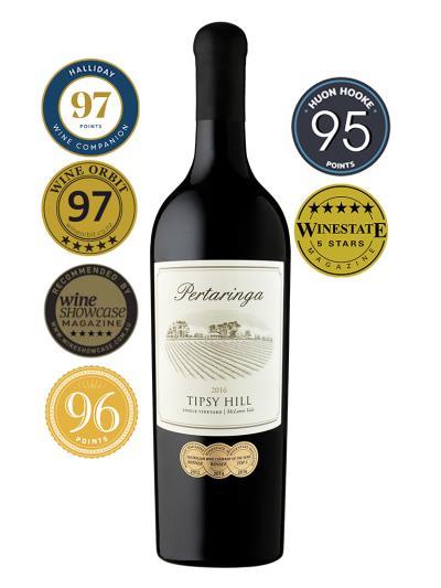 2016 澳洲紅酒 Tipsy Hill Cabernet Sauvignon (知名葡萄酒評鑑家 James Halliday  97分)
