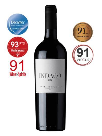 "2012 義大利紅酒    INDACO Tenuta dei Sette Cieli IGT(""葡萄酒愛好者""Wine Enthusiast Magazine  93分 )"