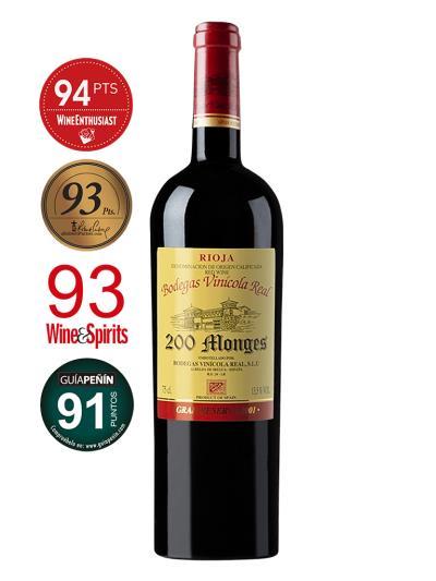 2001 西班牙紅葡萄酒 200 Monges Rioja Gran Reserva (知名葡萄酒評論雜誌 Wine Enthusiast  94)