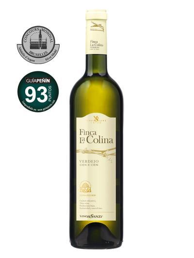2015 西班牙白葡萄酒 Finca La Colina VERDEJO CIEN X CIEN (吉利•佩南葡萄酒指南   Guia Penin Wine Guide   92分)