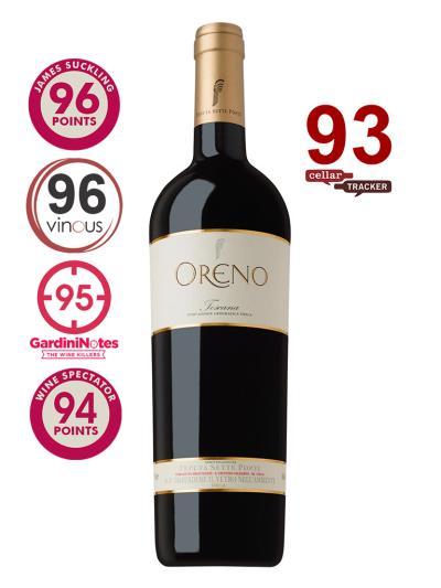 2010 義大利紅酒 Sette Ponti Oreno Toscana IGT ( 知名國際葡萄酒評論家 James Suckling  96分 )