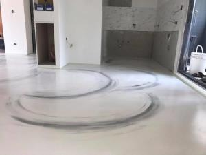 卡多泥創意地坪 - 輕工業潑墨風格