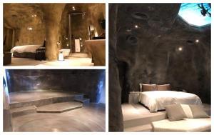 卡多泥創意地坪-台中鳥人旅店洞穴主題風格